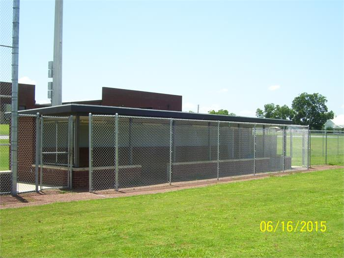 NEW FENCE ADDED TO PHS BALL FIELD DUGOUTS